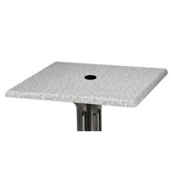 GFX99841002 - Grosfillex - 99841002 - 32 in Tokyo Stone Square Table Top w/ Umbrella Hole Product Image