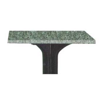 GFX99851325 - Grosfillex - 99851325 - Granite Green 48 in x 32 in Table Top w/ Umbrella Hole Product Image