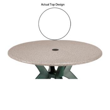 GFX99881004 - Grosfillex - 99881004 - 42 in Round White Table w/ Umbrella Hole Product Image
