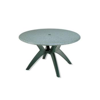 GFX99891325 - Grosfillex - 99891325 - Granite Green 48 in Round Table Top w/ Umbrella Hole Product Image