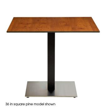 GFXUS30HP92 - Grosfillex - US30HP92 - 30in Square Pine HPL Tabletop Product Image