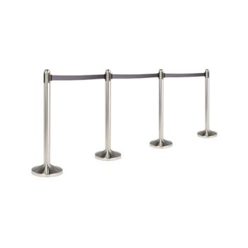 AMMRSRTGY - American Metalcraft - RSRTGY - Gray Free Standing Stanchion Product Image