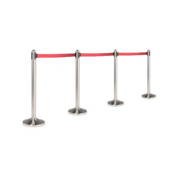 AMMRSRTRD - American Metalcraft - RSRTRD - Red Free Standing Stanchion Product Image
