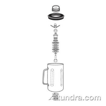 WAR008065 - Waring - 008065 - Stainless Steel Container w/ Blending Assembly & Lid Product Image