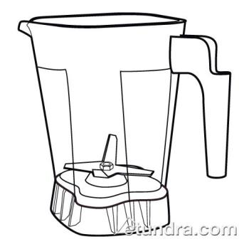 WAR503348 - Waring - 503348 - 32 - 48 Oz Poly Jar & Blending Assembly Product Image