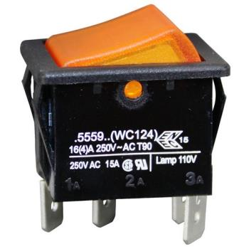 421223 - Curtis - WC-124 - SPST Amber Hot Water Switch Product Image