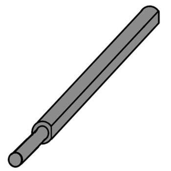 "263964 - Middleby Marshall - 35000-1536 - 17 13/16"" Rear Drive Shaft Product Image"