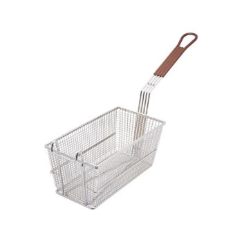 63119 - Commercial - 12 in x 6 1/4 in x 5 3/8 in Twin Fryer Basket w/ Front Hook Product Image