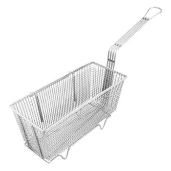 "63106 - FMP - 225-1006 - Right Hook Fryer Basket 5 5/8"" x 13 1/4"" x 5 3/4"" Product Image"