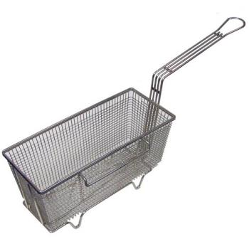 261535 - FMP - 225-1037 - 13 1/4 in L x 5 5/8 in W x 5 5/8 in D Twin Fryer Basket w/ Left Side Hook Product Image