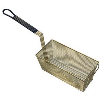 63121 - FMP - 225-1061 - 13 1/4 in x 6 1/2 in x 5 7/8 in Twin Fry Basket w/Front Hook Product Image