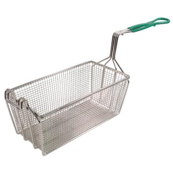 "63113 - FMP - 225-1069 - Heavy Duty Fryer Basket 12 7/8 x 6 1/2"" x 5 3/8"" Product Image"