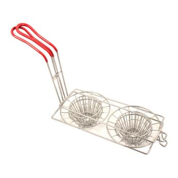 63187 - Pronto Products - PBPN0004 - Double Taco Cup Fryer Basket Product Image