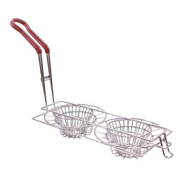 63187 - Tablecraft - TB24039 - Double Taco Cup Fryer Basket Product Image
