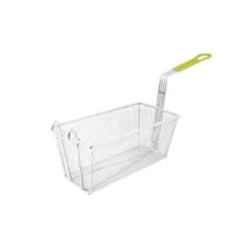 75957 - Winco - FB-40 - 17 in x 8 1/4 in x 6 in Fry Basket with Yellow Handle Product Image