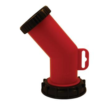 13832 - Smart Spout - SMRT1-R-70MM - 70 mm Red Carboy Pour Spout Product Image