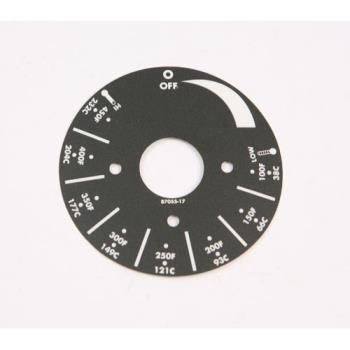 8002031 - APW Wyott - 8705517 - Electric Griddles Dial Plate Product Image