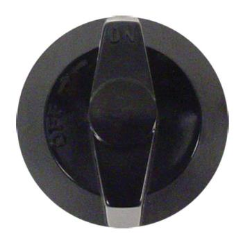 61106 - Commercial - Black Plastic Burner Valve Knob Product Image