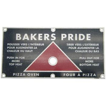 221474 - Baker's Pride - U1224A - Push/Pull Plate Product Image
