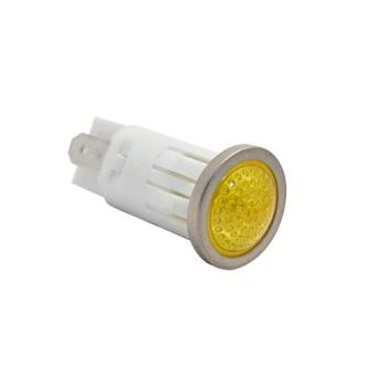 "42253 - Commercial - 250V Amber Signal Light W/ 3/16"" Tabs Product Image"