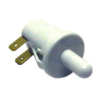 "421405 - Commercial - Momentary On/Off 2 Tab Push Light Switch W/ 5/8"" Long Plunger Product Image"