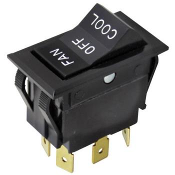 42114 - Allpoints Select - 421321 - DPDT Fan/Off/Cool Rocker Switch Product Image