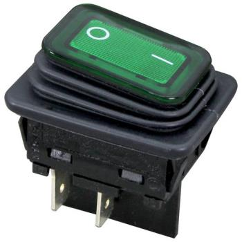 26221 - Allpoints Select - 421450 - On/Off Green Lighted Rocker Switch Product Image
