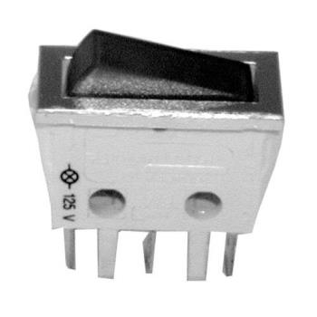 421216 - Cecilware - L217A - SPST On/Off 3 Tab Lighted Rocker Switch Product Image