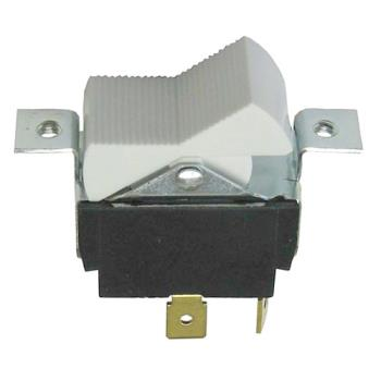 421525 - Commercial - On/Off White Serrated Rocker Switch Product Image