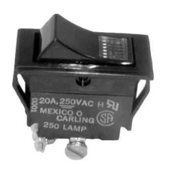 26899 - Cres Cor - 0808-103-1 - DPST On/Off 4 Tab Lighted Rocker Switch Product Image