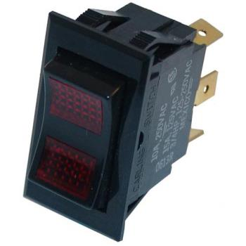 42159 - DCS - 16087-1 - SPDT On/Off Lighted Rocker Switch Product Image