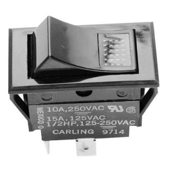421291 - Groen - 087951 - SPDT On/Off 4 Tab Lighted Rocker Switch Product Image