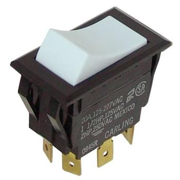 42127 - Metro/Intermetro - RPC13-128 - White On/On Rocker Switch Product Image