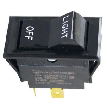 421310 - Montague - 23129-0 - Light/Off 4 Tab Rocker Switch Product Image