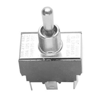 "42145 - Commercial - DPDT On/Off/On 6 Tab Toggle Switch Fits 1/2"" Hole Product Image"
