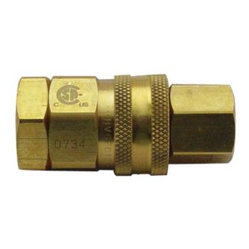 "41820 - T&S Brass - AG-5D - 3/4"" Gas Quick Disconnect Product Image"