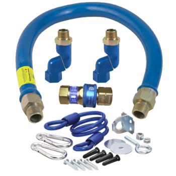 41189 - Dormont - 16100BPQ2SR48 - 1 in x 48 in Blue Hose™ Swivel MAX® Gas Hose Connector Kit Product Image
