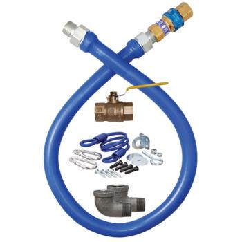 41183 - Dormont - 16100KIT48 - 1 in x 48 in Blue Hose™ Deluxe Gas Hose Connector Kit Product Image