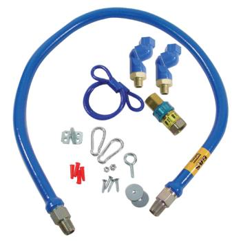 41194 - Dormont - 1650BPQ2SR48 - 1/2 in x 48 in Blue Hose™ Swivel MAX® Gas Hose Connector Kit Product Image