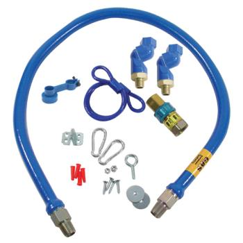 41195 - Dormont - 1675BPQ2SR48 - 3/4 in x 48 in Blue Hose™ Swivel MAX® Gas Hose Connector Kit Product Image