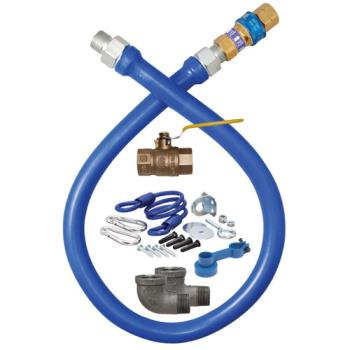 41181 - Dormont - 1675KIT36 - 3/4 in x 36 in Blue Hose™ Deluxe Gas Hose Connector Kit Product Image