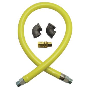 41803 - T&S Brass - HG-4D-48 - Safe-T-Link 48 in Gas Hose with Quick Disconnect Product Image