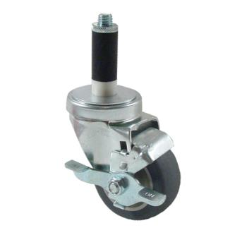 35223 - Kason - 6C523027PPPGTLB - 1 in Expanding Stem Caster With 3 in Wheel and Brake Product Image