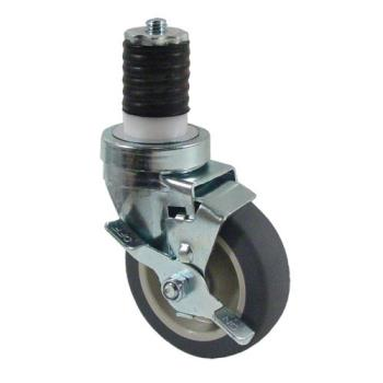 35264 - Kason - 6C524026PPPGTLB - 1 5/8 in Expanding Stem Caster With 4 in Wheel and Brake Product Image