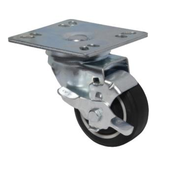 13117 - BK Resources - 3SBR-UP4-PLY-PS4 - 3 in Swivel Plate Caster Set Product Image