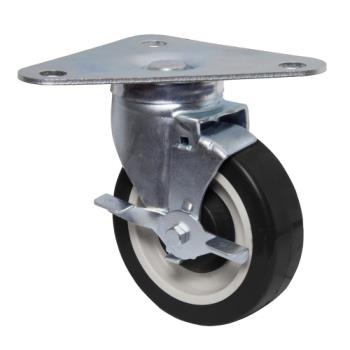 13109 - BK Resources - 5HBR-TR5-PLY-PS4 - 5 in Swivel Plate Caster Set Product Image