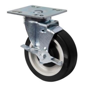 13115 - BK Resources - 5HBR-UP4-PLY-PS4 - 5 in Swivel Plate Caster Set Product Image