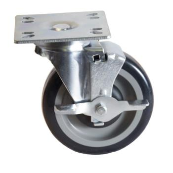 13103 - BK Resources - 5SBR-UP3-PLY-TLB-PS4 - 5 in Swivel Plate Caster Set Product Image