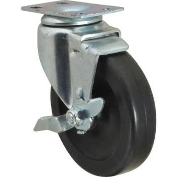 35424 - CHG - C11-1041 - 4 in Swivel Plate Caster with Brake Product Image