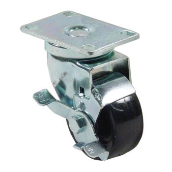 35101 - CHG - CMP1-3BBN - Plate Mount Caster w/ 3 in Wheel & Brake Product Image